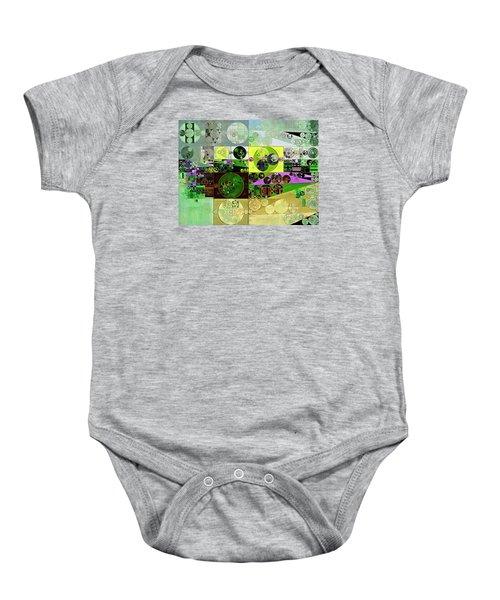 Abstract Painting - Black Bean Baby Onesie