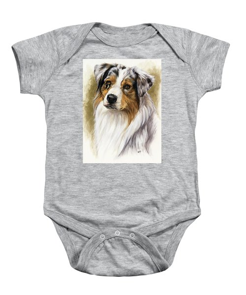 Australian Shepherd Baby Onesie