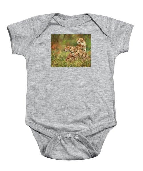 Cheetahs Baby Onesie by David Stribbling