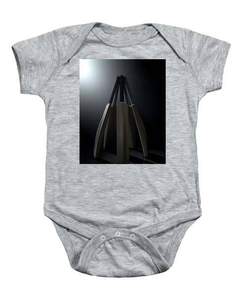 Cricket Back Circle Dramatic Baby Onesie by Allan Swart