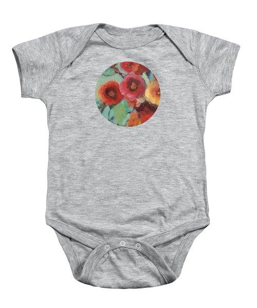 Floral Painting Baby Onesie