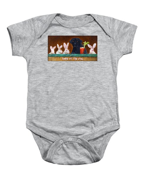 Hare Of The Dog... Baby Onesie by Will Bullas