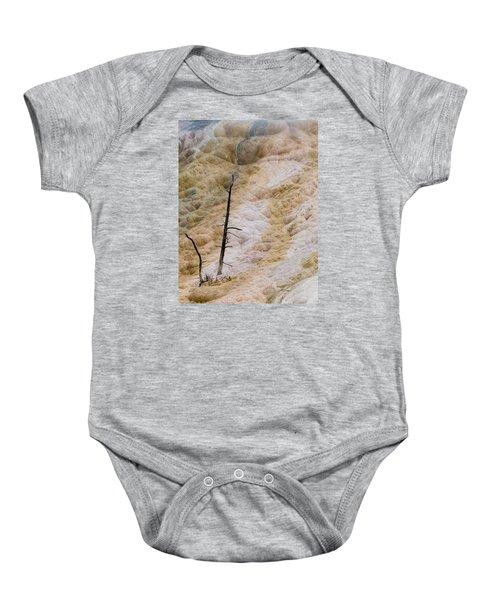 Mammoth Hot Spring Terraces Baby Onesie