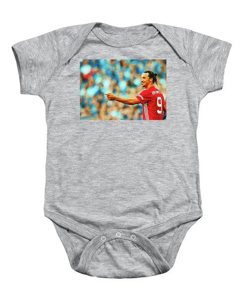 Manchester United's Zlatan Ibrahimovic Celebrates Baby Onesie