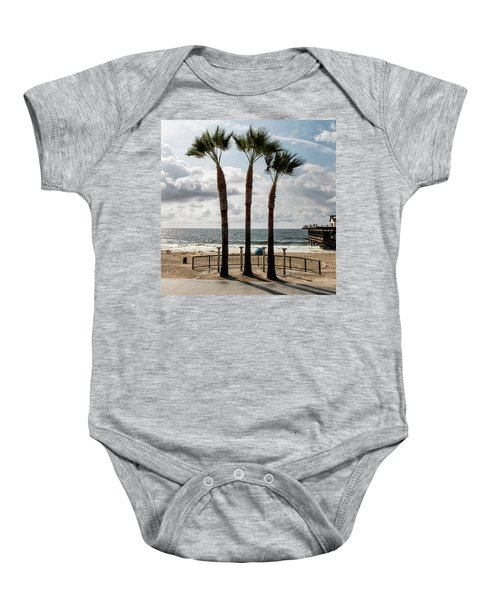 Baby Onesie featuring the photograph 3 Trees by Eric Lake