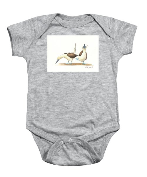 Blue Footed Boobies Baby Onesie