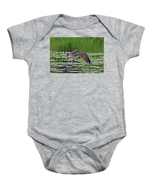 Osprey Fishing Baby Onesie