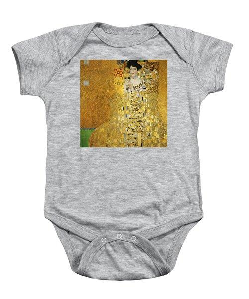 Portrait Of Adele Bloch-bauer I Baby Onesie by Gustav Klimt