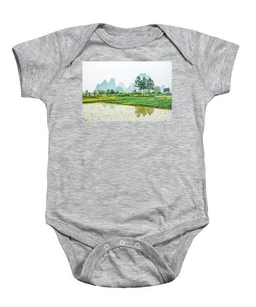 Karst Rural Scenery In Spring Baby Onesie