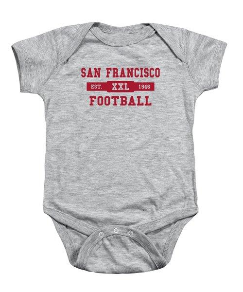 49ers Retro Shirt Baby Onesie by Joe Hamilton