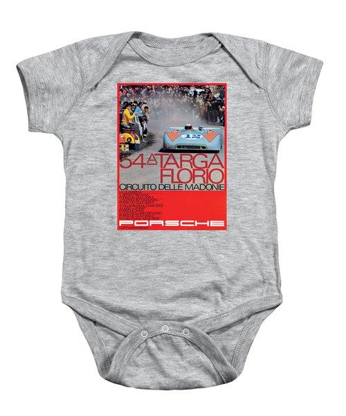 54th Targa Florio Porsche Race Poster Baby Onesie