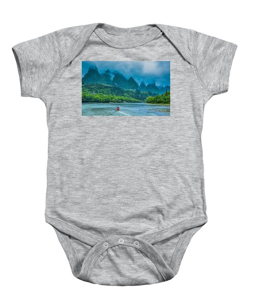 Karst Mountains And Lijiang River Scenery Baby Onesie