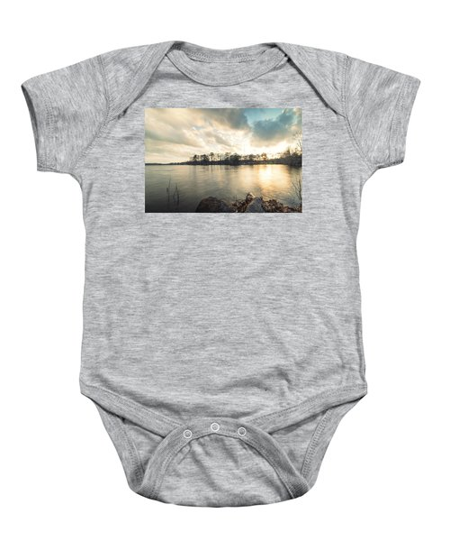 Lake Sunset Baby Onesie