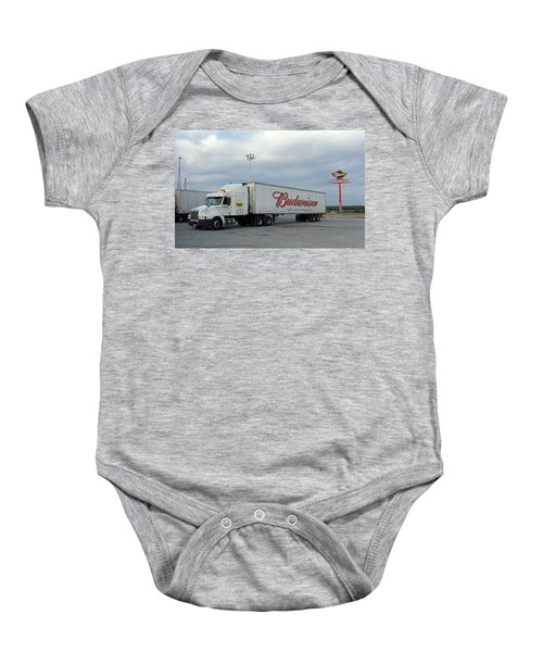 Baby Onesie featuring the photograph Route 66 - Dixie Truckers Home by Frank Romeo