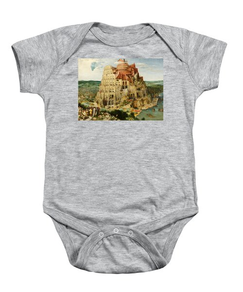 The Tower Of Babel  Baby Onesie