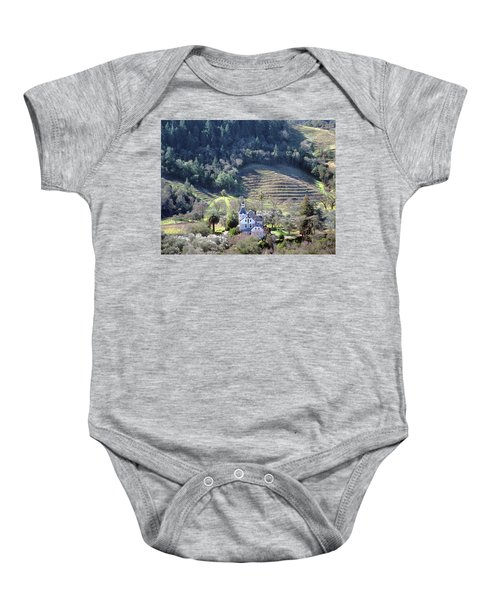 6b6312 Falcon Crest Winery Grounds Baby Onesie