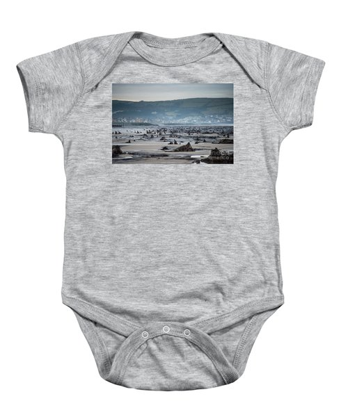 Bronze Age Sunken Forest At Borth On The West Wales Coast Uk Baby Onesie