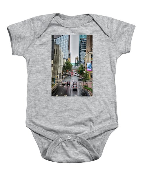 Charlotte North Carolina Views Around  Downtown Baby Onesie