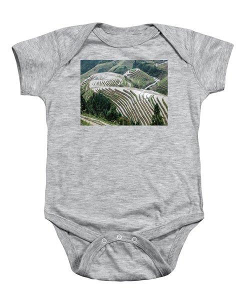 Terrace Fields Scenery In Spring Baby Onesie