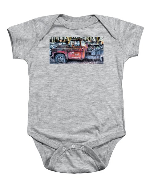 A Beautiful Rusty Old Tow Truck Baby Onesie