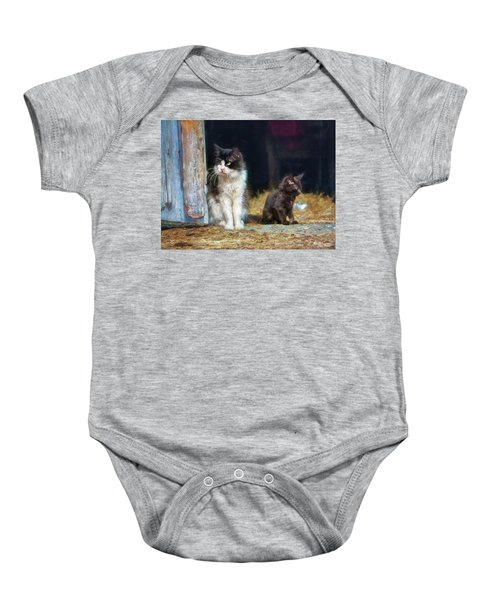 A Day In The Life Of A Barn Cat Baby Onesie