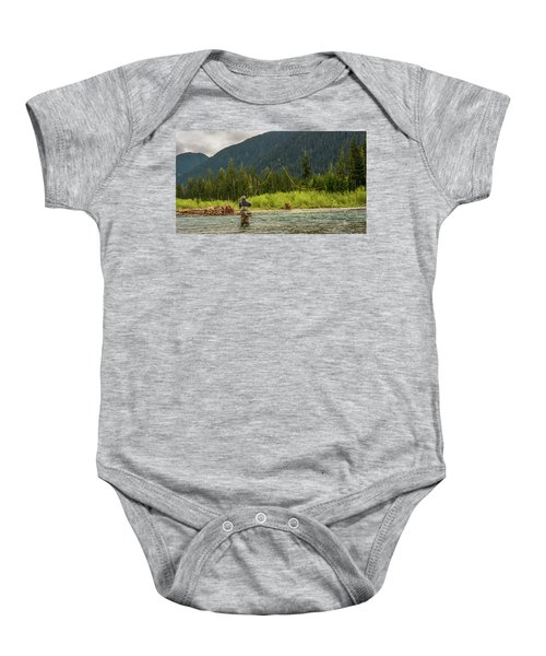 A Day On The River Baby Onesie