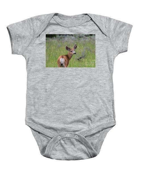 A Deer In Yellowstone National Park  Baby Onesie
