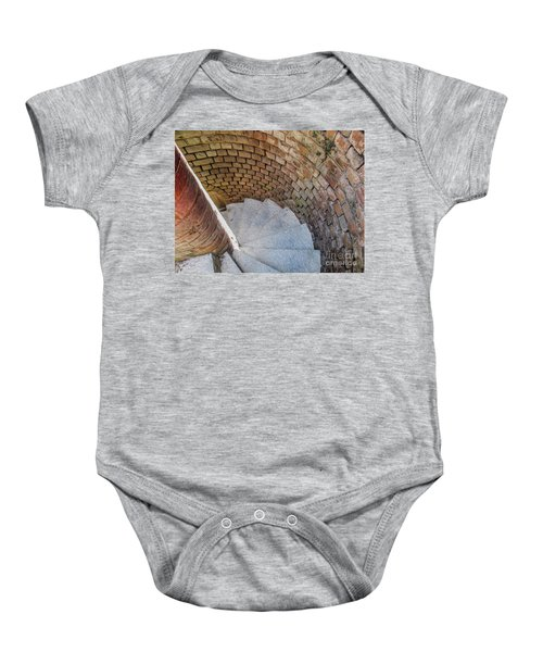 A Downward Spiral In Time Baby Onesie