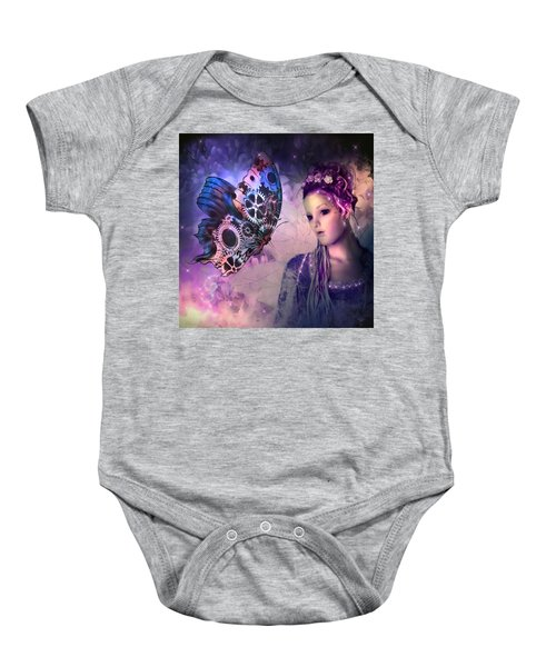 A Fairy Butterfly Kiss Baby Onesie
