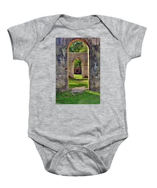 A Look Through Chapel Of Ease St. Helena Island Beaufort Sc Baby Onesie