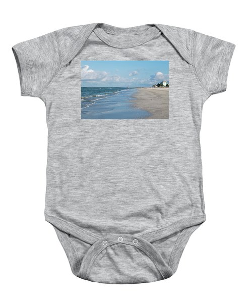 A Morning Walk On Fort Myers Beach Fort Myers Florida Baby Onesie