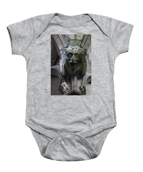A Notre Dame Griffon Baby Onesie