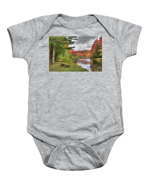 A Place To View Autumn Baby Onesie