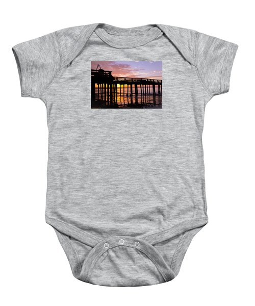Baby Onesie featuring the photograph A Quiet And Beautiful Start by Lora Lee Chapman