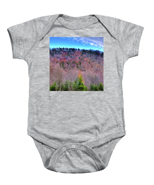 Baby Onesie featuring the photograph A Touch Of Autumn by David Patterson