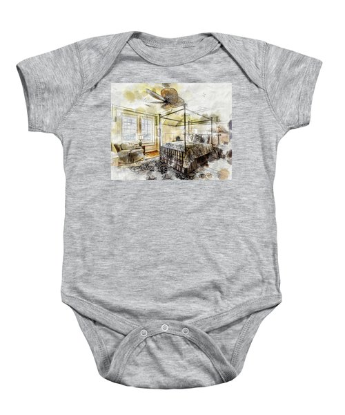 A Traditional Bedroom Baby Onesie