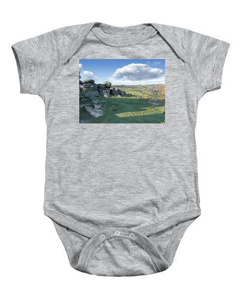 A View From Combestone Tor Baby Onesie