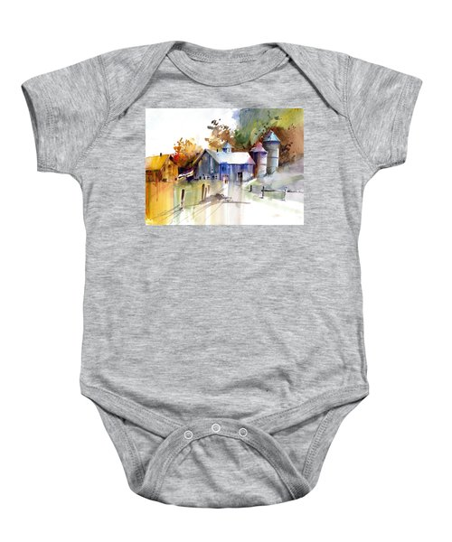 A Walk To The Barn Baby Onesie