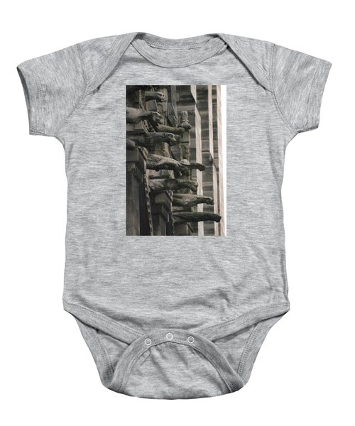 A Wall Of Gargoyles Notre Dame Cathedral Baby Onesie