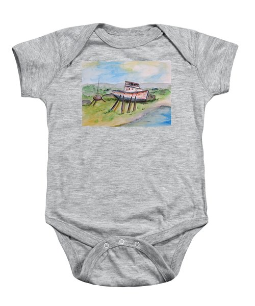 Abandoned Fishing Boat Baby Onesie