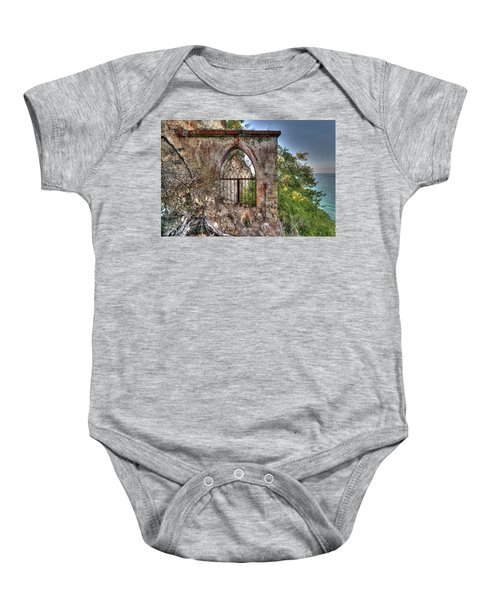 Abandoned Places Iron Gate Over The Sea - Cancellata Sul Mare Baby Onesie