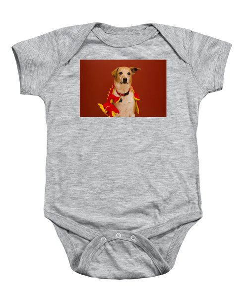Abbie And Dragon Toy Baby Onesie