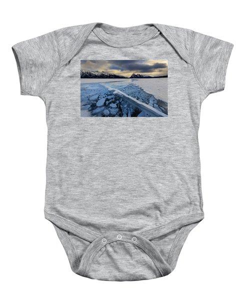 Abraham Lake Ice Bubbles Baby Onesie