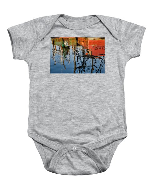 Abstract Boat Reflections Iv Baby Onesie