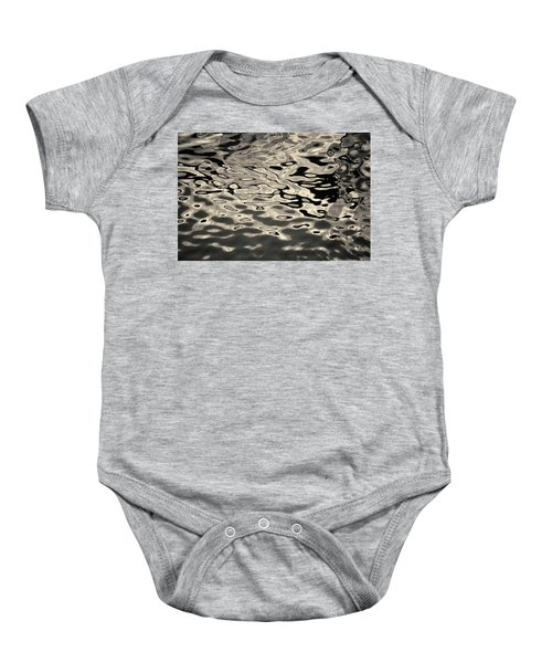 Abstract Dock Reflections I Toned Baby Onesie