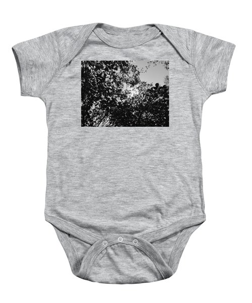Abstract Leaves Sun Sky Baby Onesie