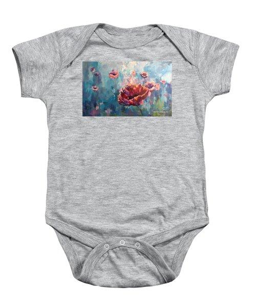 Abstract Poppy Baby Onesie