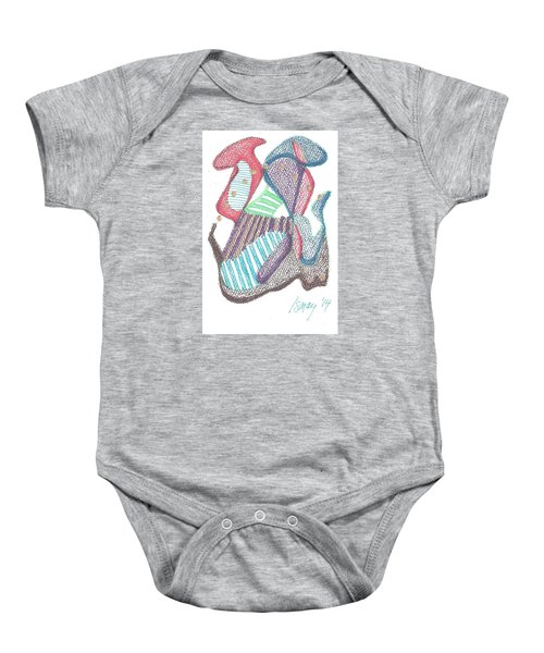 Abstract Baby Onesie by Rod Ismay