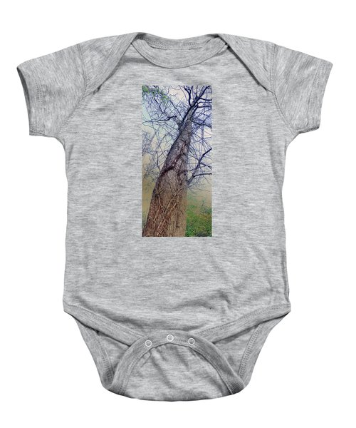 Abstract Tree Trunk Baby Onesie