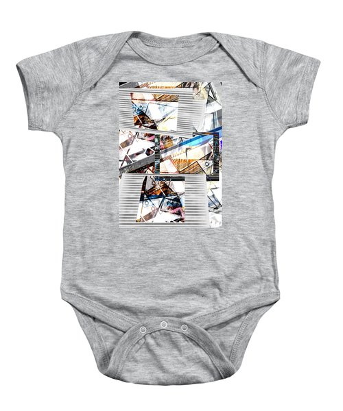 Abstract Triptych Baby Onesie